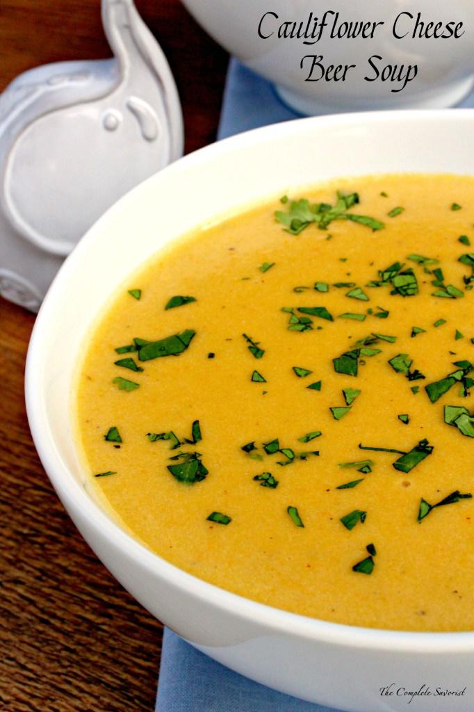 Cauliflower Cheese Beer Soup
