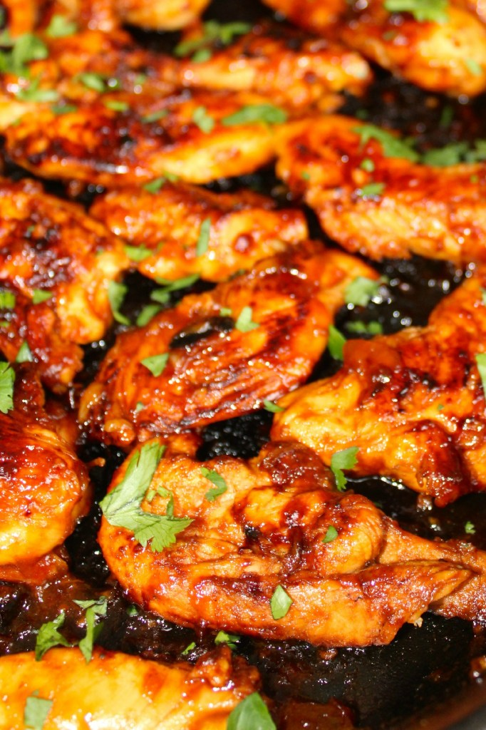 Skillet Sticky Chicken ~ A quickly made glaze, pan seared chicken and this sticky sweetness will have your family begging for this dish often ~ The Complete Savorist