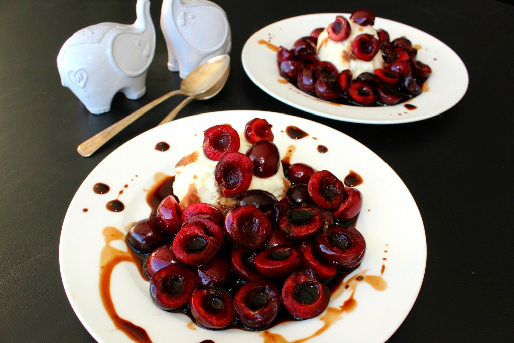 Balsamic Cherries and Ricotta ~ The Complete Savorist