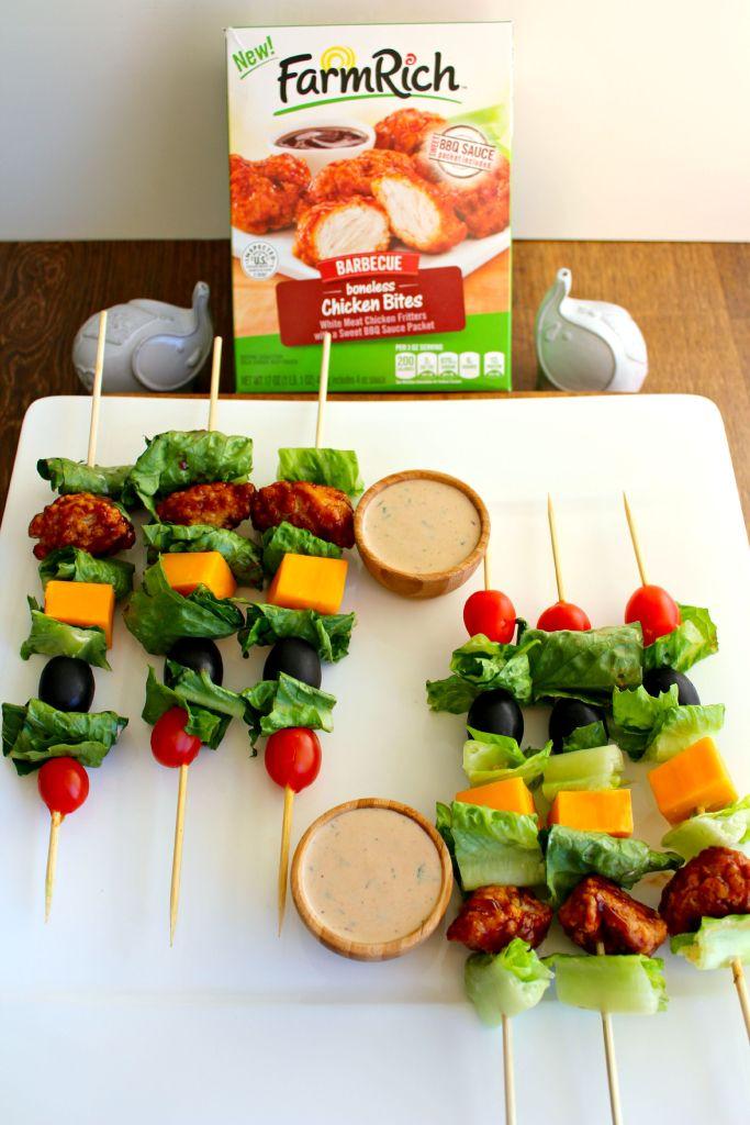 Barbecue Chicken Salad Skewers ~ The Complete Savorist
