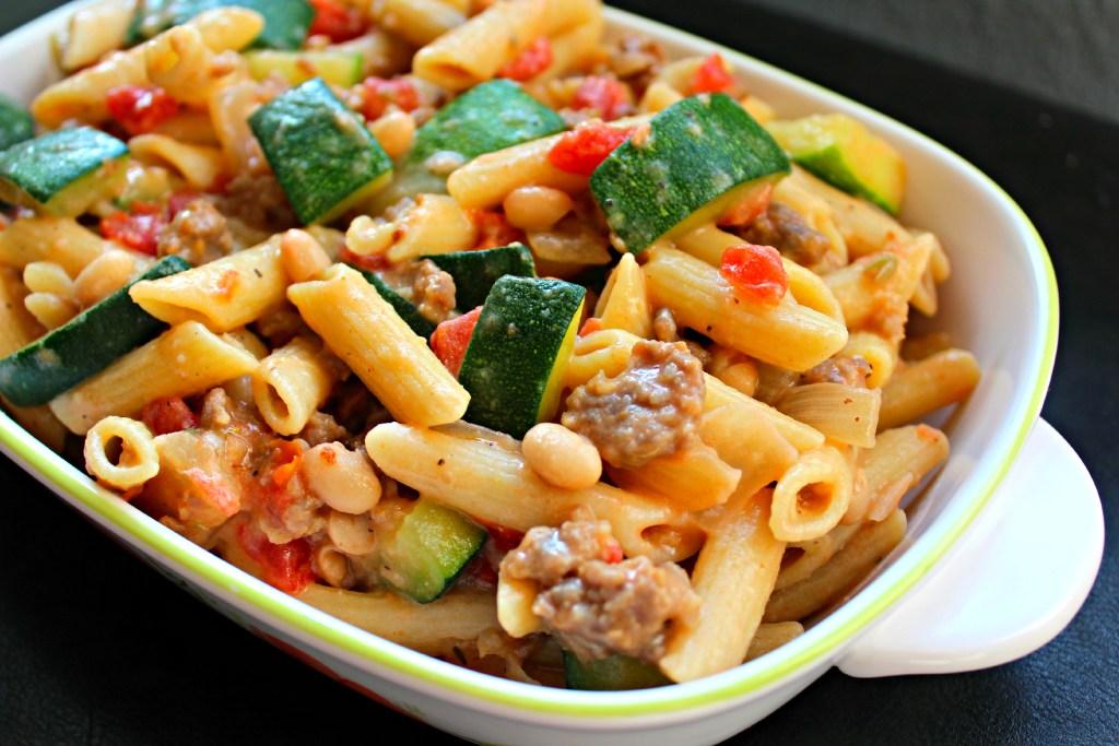 Sausage, Zucchini, Penne ~ The Complete Savorist