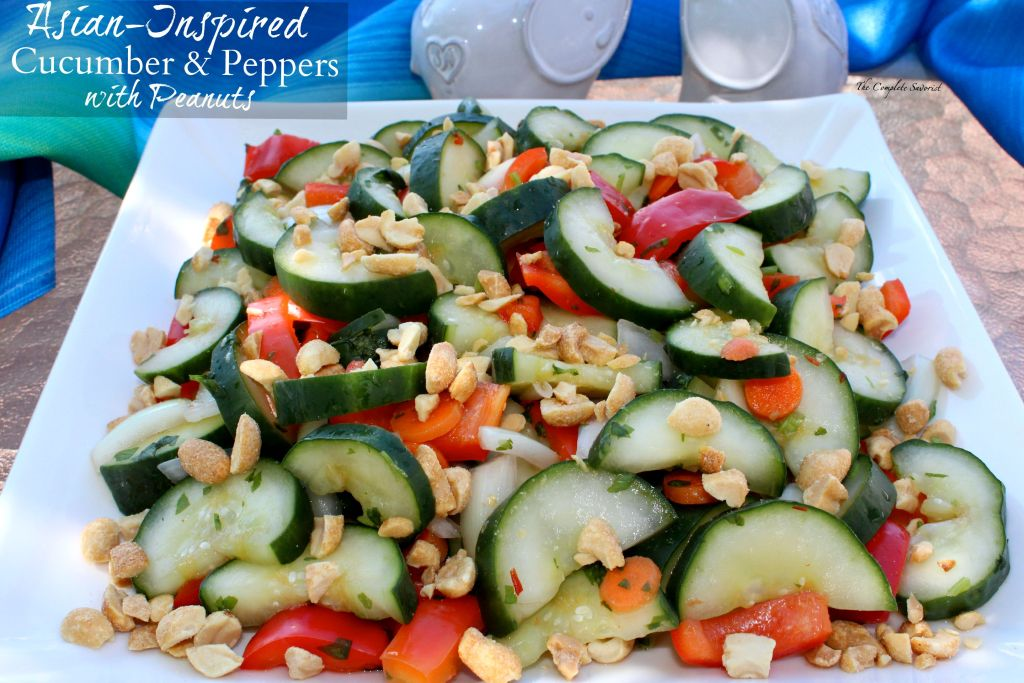 Asian-Inspired Cucumber and Peppers with Peanuts ~ The Complete Savorist