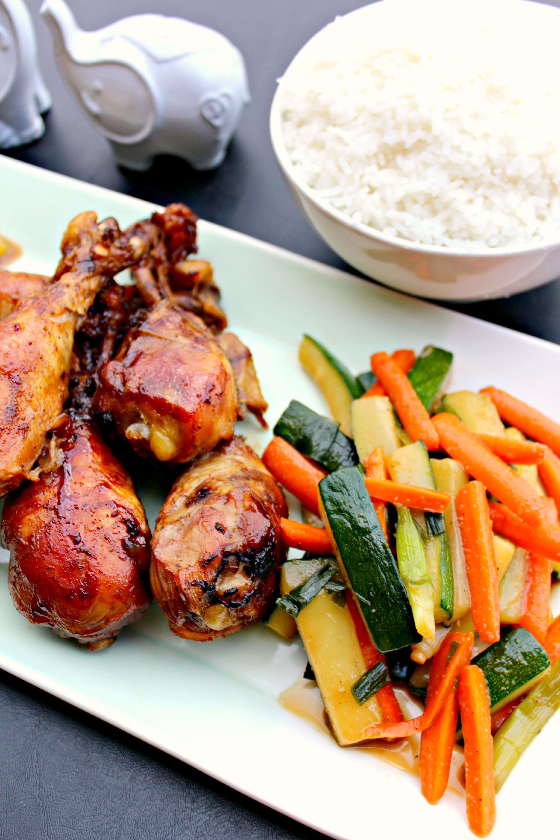 Slow cooker teriyaki chicken drummers and veggies the complete slow cooker teriyaki chicken drummers and veggies chicken drumsticks slow cooked and tossed with teriyaki forumfinder Choice Image