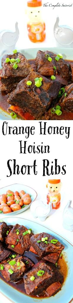 Orange Honey Hoisin Short Ribs ~ Slow Cooker braised beef short ribs in an orange honey, hoisin, and ginger ale sauce ~ The Complete Savorist