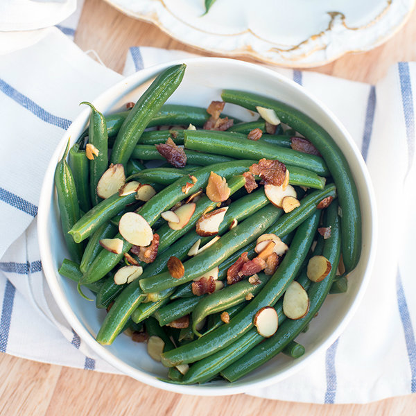 Green Beans with Almonds and Bacon - From Valerie's Kitchen