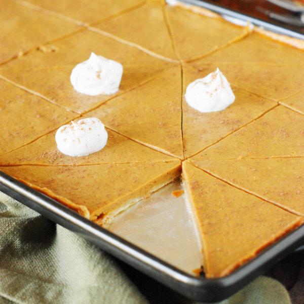 Pumpkin Slab Pie - The Kitchen is My Playground