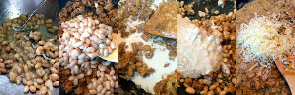 Tuscan White Bean and Sausage Dip ~ A sophisticatedly delicious mixture of both sweet and hot Italian sausages mixed into white beans, two types of cheese, rosemary and cream ~ The Complete Savorist #SundaySupper