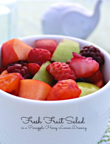 Fresh Fruit Salad ~ Blackberries, strawberries, apple, nectarine, mandarin oranges in a honey, lemon, and pineapple juice dressing ~ The Complete Savorist #LiveHealthyChoice #ad