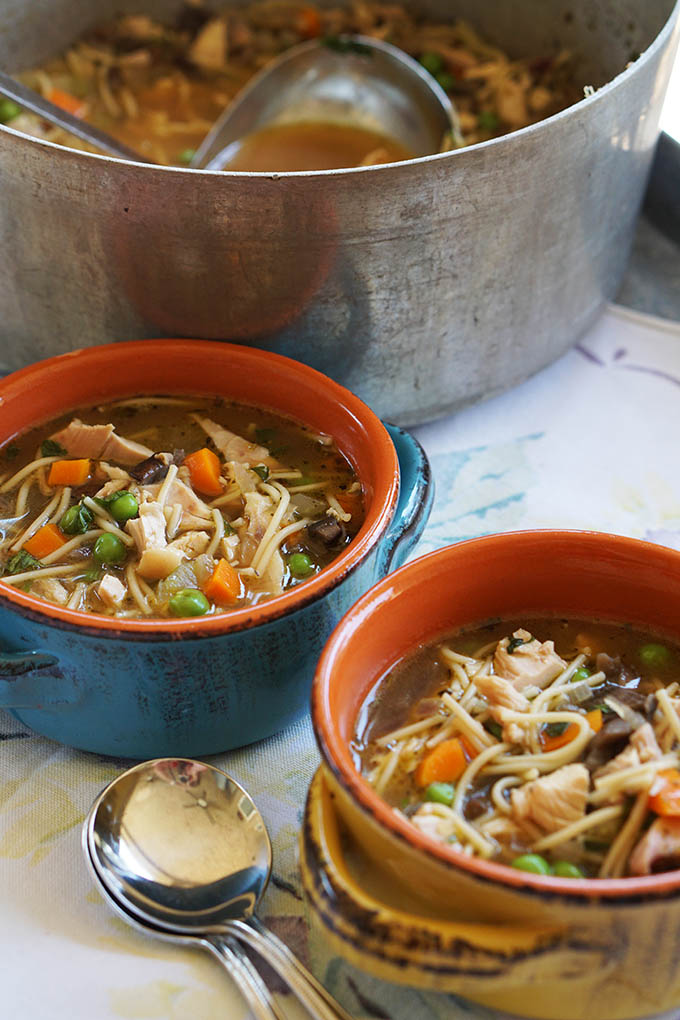 20 Minute Chicken Noodle Soup ~ Soul satisfying and classically comforting, this chicken noodle soup is made in 20 minutes.