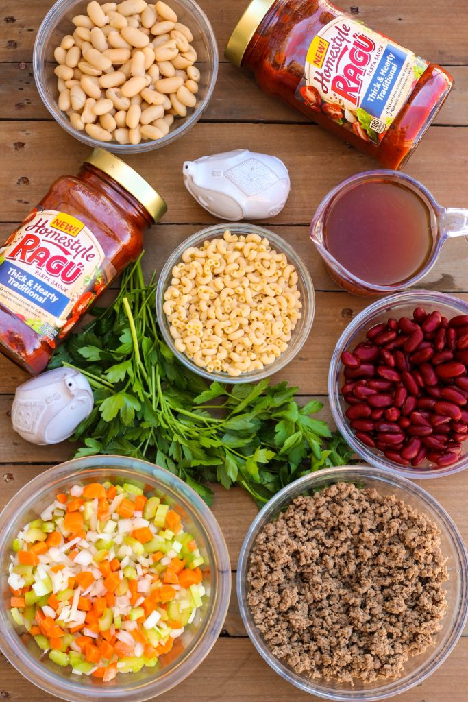 Quick Pasta e Fagioli ~ The classic and iconic Italian soup dish that means pasta and beans; the only two ingredients common to the countless versions, ready in 30 minutes ~ The Complete Savorist #SimmeredInTradition ad