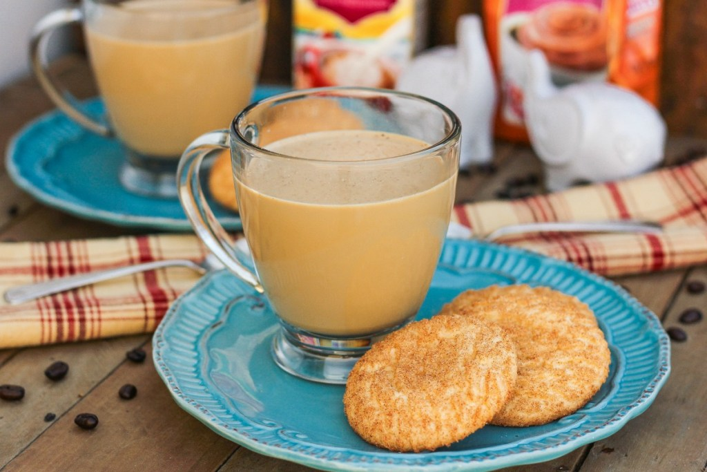 Slow Cooker Gingerbread Latte ~ Seasonal favorite blend of ginger, cinnamon coffee, half and half, and more, easily made in the slow cooker ~ The Complete Savorist