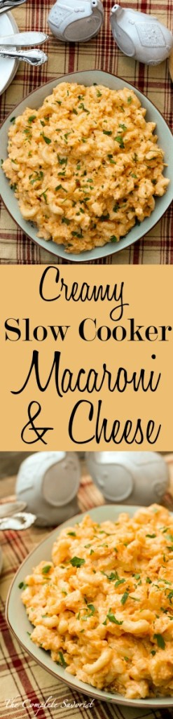 Creamy Slow Cooker Macaroni and Cheese ~ Classic comfort food cooked in the slow cooker for optimal creaminess and intense deliciousness ~ The Complete Savorist #GetReliefFromTheFeast ad