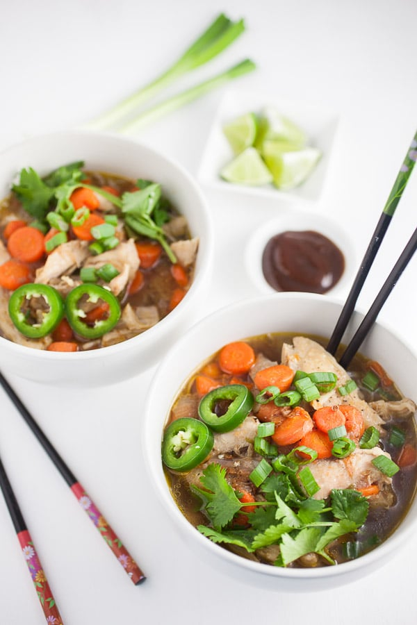 Pho Ga (Vietnamese Chicken Noodle Soup) by The Rustic Foodie
