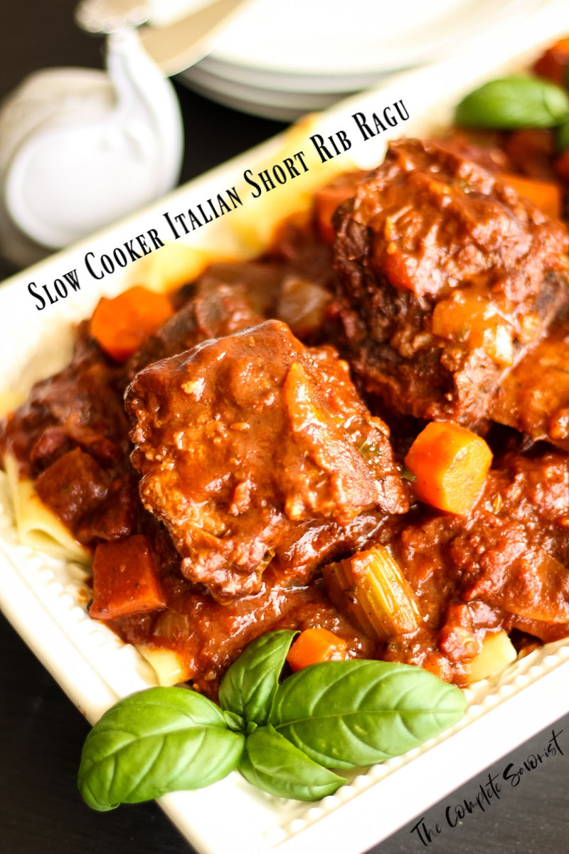 Slow Cooker Italian Short Rib Ragu is an authentic thick and hearty Italian meat sauce with rich, deep flavor and tender pieces of meat ~ The Complete Savorist by Michelle De La Cerda