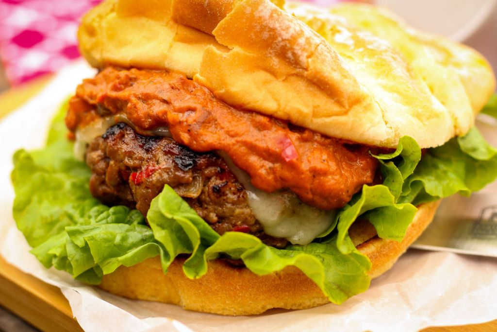 The sauce combined with the heavily seasoned patty and creamy cheese are the perfect combination.
