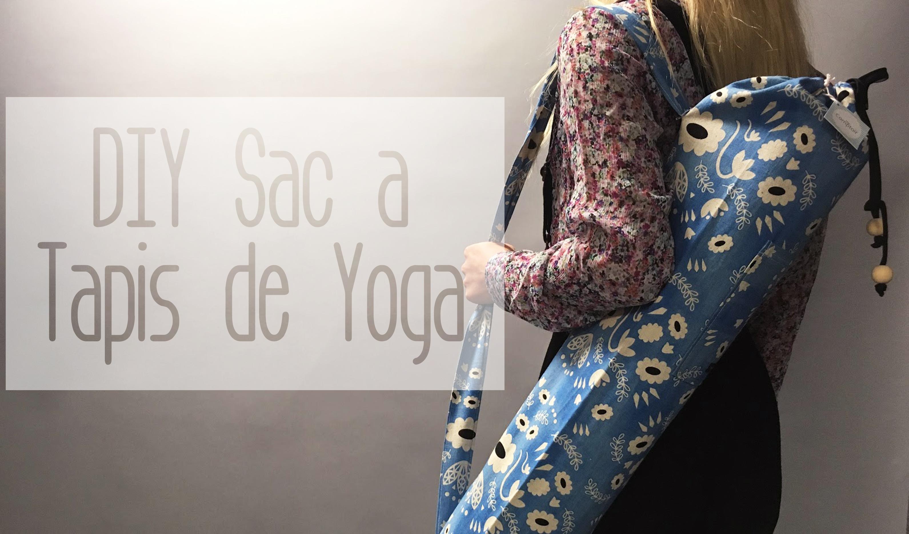 diy couture le sac a tapis de yoga