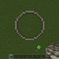 Perfect Minecraft Circle Diagram Honeywell Zone A Simple Trick To Make Circles In The Computer