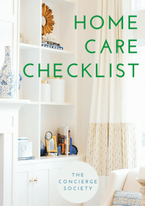 The Concierge Secret Society - Home Care Checklist