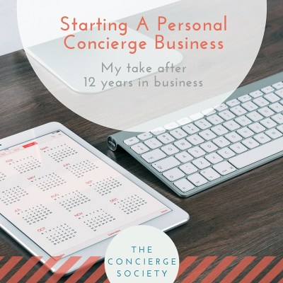 Starting A Personal Concierge Business