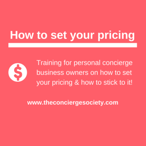 Personal Concierge Pricing Training