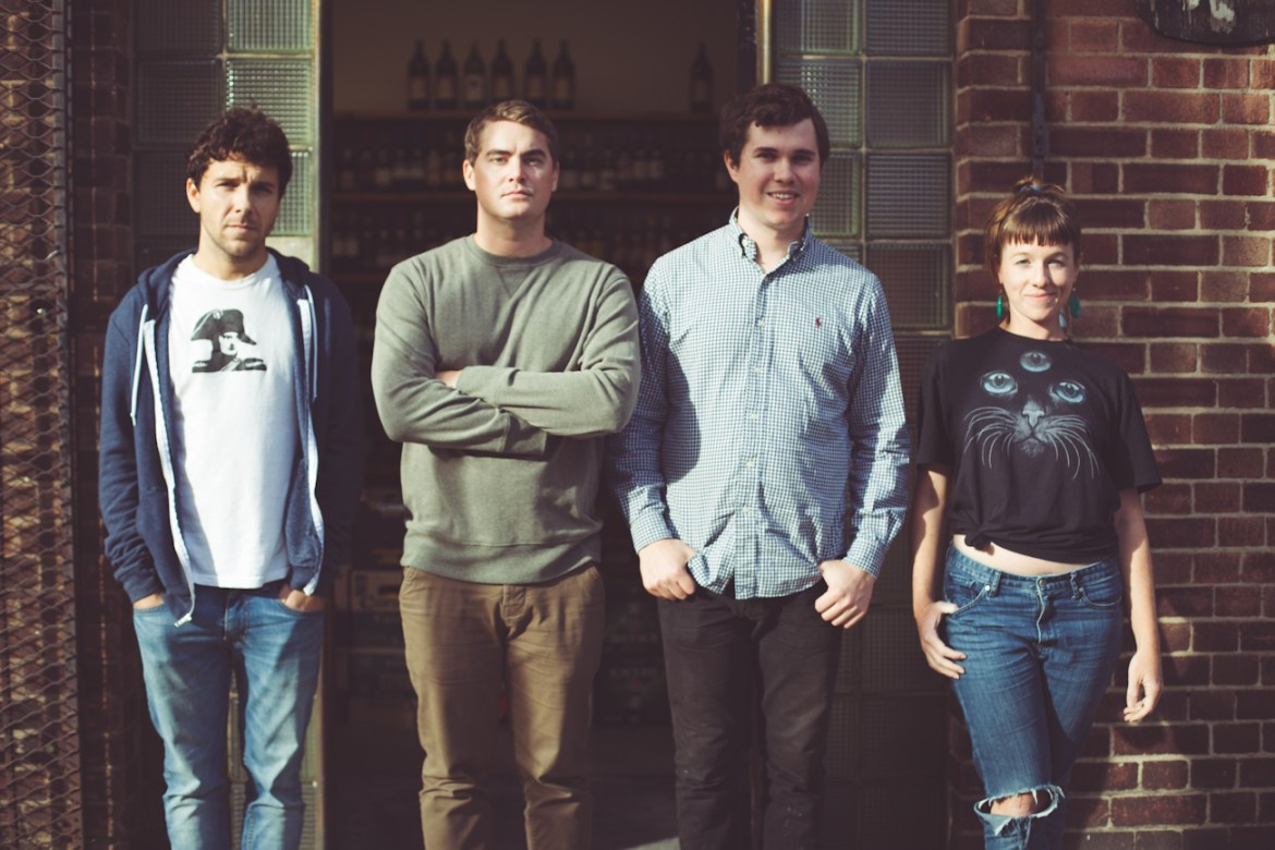 Surfer Blood currently consists of (from left to right) Mike McCleary, Tyler Schwarz, John Paul Pitts and Lindsey Mills.