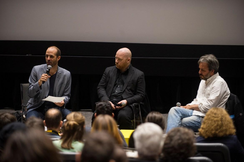 From left to right: Mathieu Lavoie, Jóhann Jóhannsson and Denis Villeneuve. Photo by Andrej Ivanov.