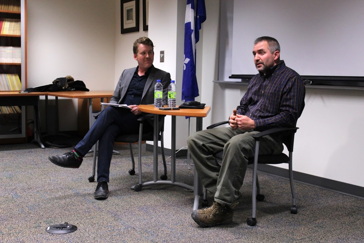 War correspondent for The New York Times C.J. Chivers speaking at Concordia on Jan. 20, 2016. Photo by Gregory Todaro.