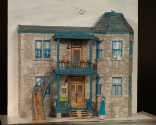 """Blue House (25.5""""x30.5""""x12.5""""). Photos courtesy of David Chandler and Stanley Sklar."""