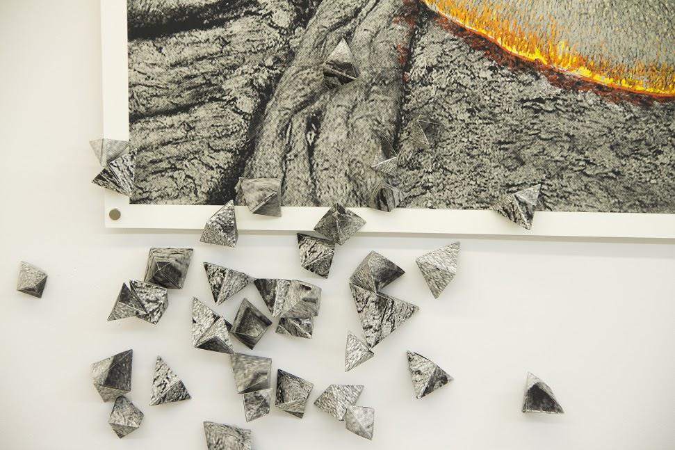 Woodcut prints are laborious and results are sometimes unpredictable. Photo by Valeria Cori-Manocchio.