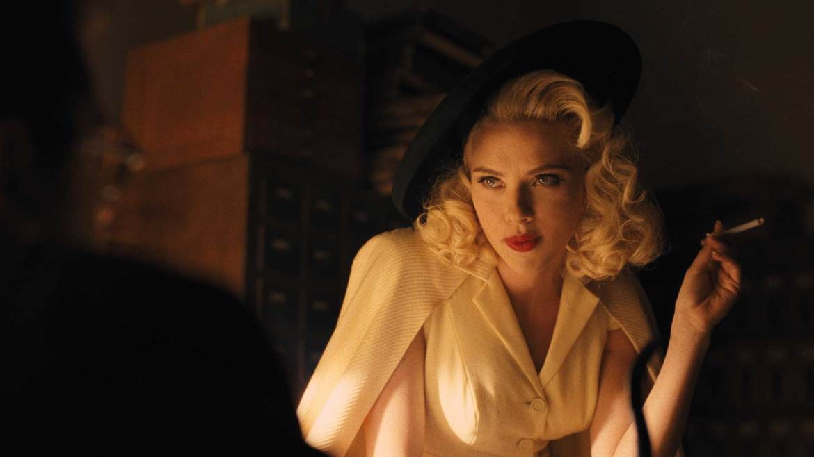 Scarlett Johansson stars as a fictional actress whose looks alternate between magical mermaid and femme fatale.