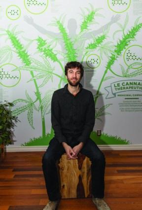 """You should be able to grow marijuana like you can grow tomatoes,"" said Adam Greenblatt, executive director at Santé Cannabis and cannabis educator. Photo by Walid Maraqa."