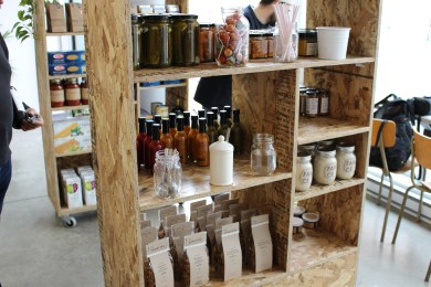 The store sells mostly local products. Photo by Danielle Gasher