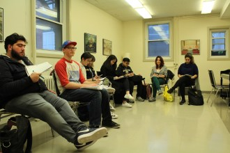 The discussion took place at Concordia's Multi-Faith and Spirituality centre. Photo by Alex Hutchins