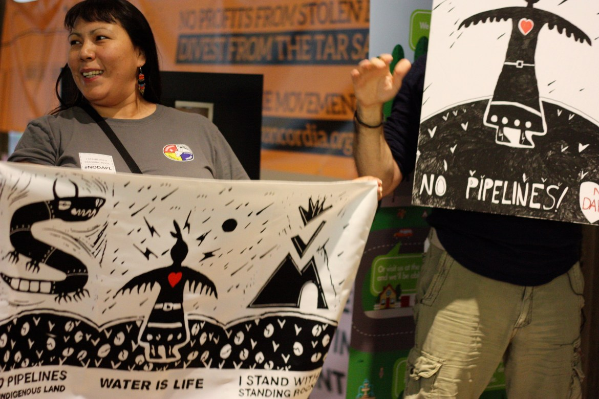 Members of the Indigenous Association and First Peoples Studies both collaborated to initiate this event. Photo by Savanna Craig.