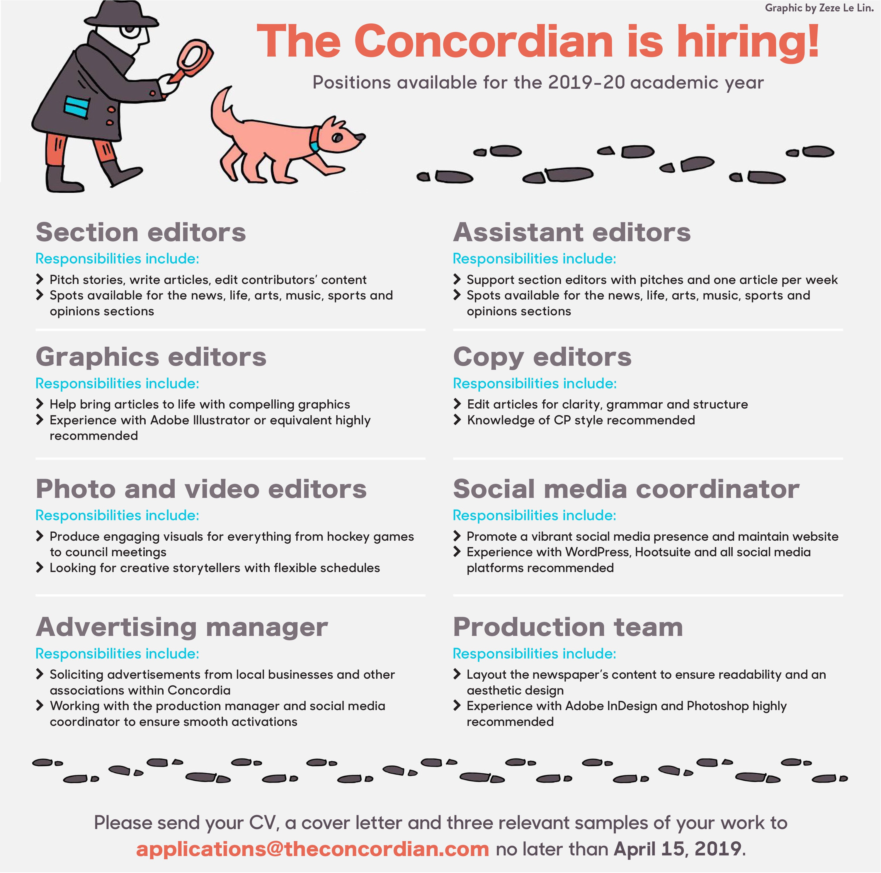 Assistant News Director Cover Letter Work With Us The Concordian
