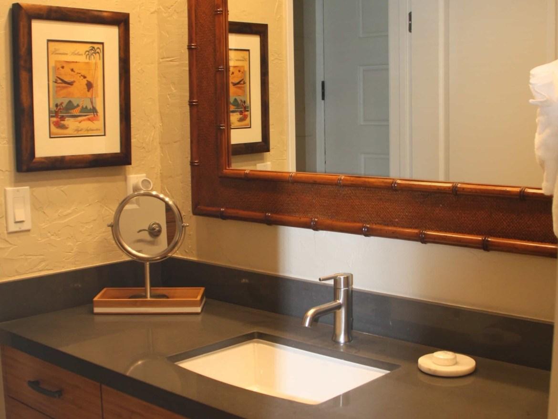 Studio condo at Papakea Resort - updated vanity area