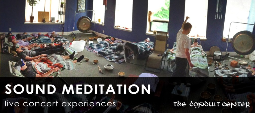 live musical meditation experiences with all props for comfort provided