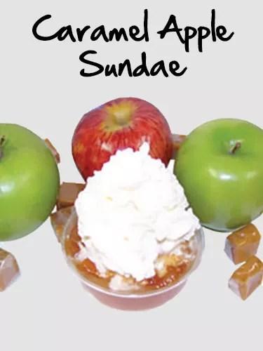 The Cone's Caramel Apple Sundae