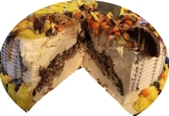 Reese's Explosion Cake