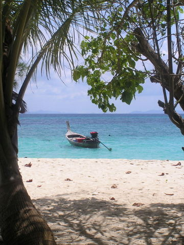 Lunch stop on Bamboo Island