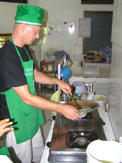 Arne cooking up a storm