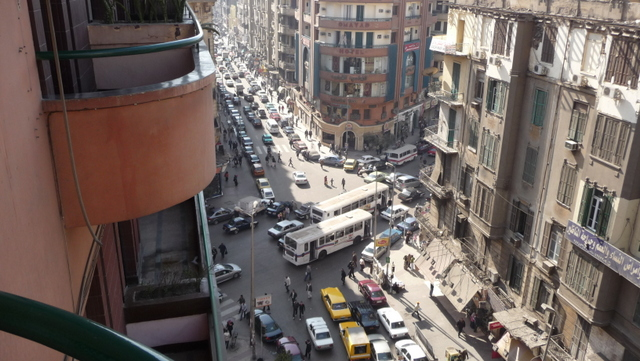 Intersection of Talaat Harb and 26 July Street, central Cairo