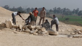 Archaeological dig at Meidum