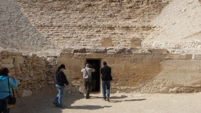 Entrance to the stepped pyramid at Meidum
