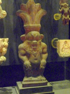 Statue of the house god Bes at the Gayer Armstrong Museum
