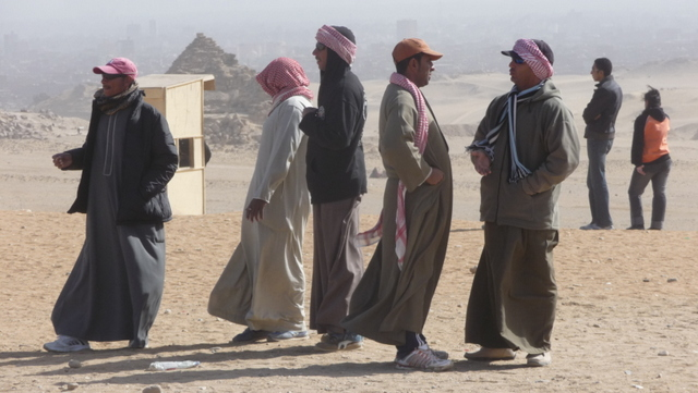 Cameleers at Giza