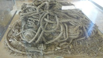 Rope made from halfa grass, found with Khufre's solar barque