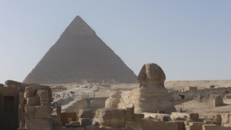 The Great Pyramid (Kafre) with The Sphinx