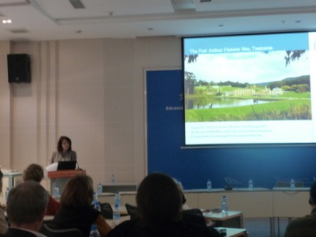 Maria delivers the PAHSMA presentation