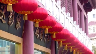 Red lanterns like these have appeared all over China in the days before the October 1 National Day